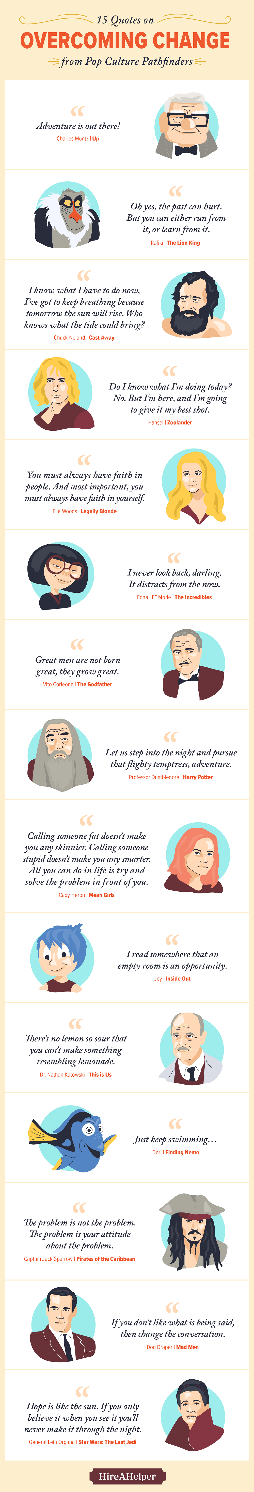 15 inspirational quotes for new graduates from pop culture pathfinders #infographic