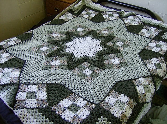 Quilt square crocheted quilt - free step by step