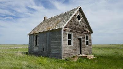Tide Lake, Alberta, Iddesleigh, school, abandoned