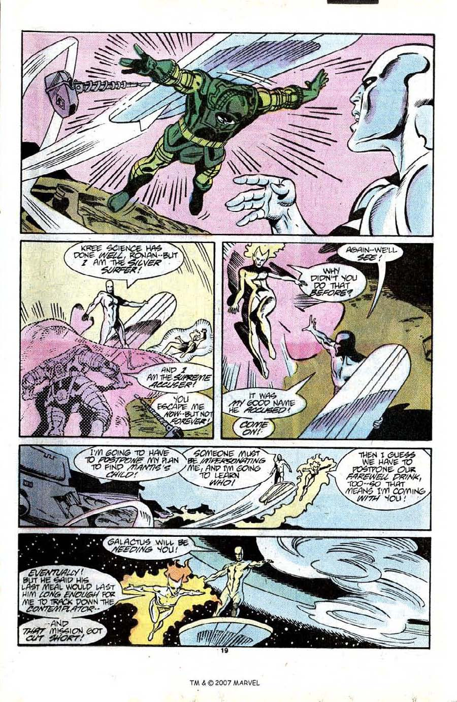 Read online Silver Surfer (1987) comic -  Issue #13 - 21