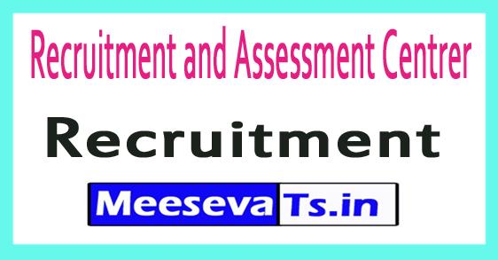 Recruitment and Assessment Centrer DRDO RAC Recruitment
