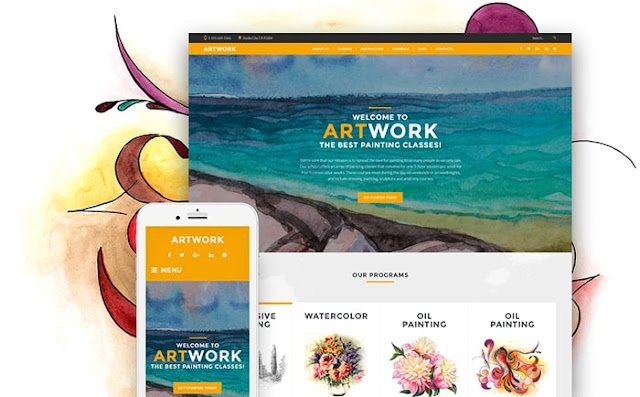 School of Art Responsive WordPress Theme
