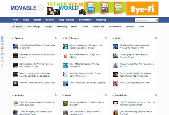 Movable Premium WordPress Theme