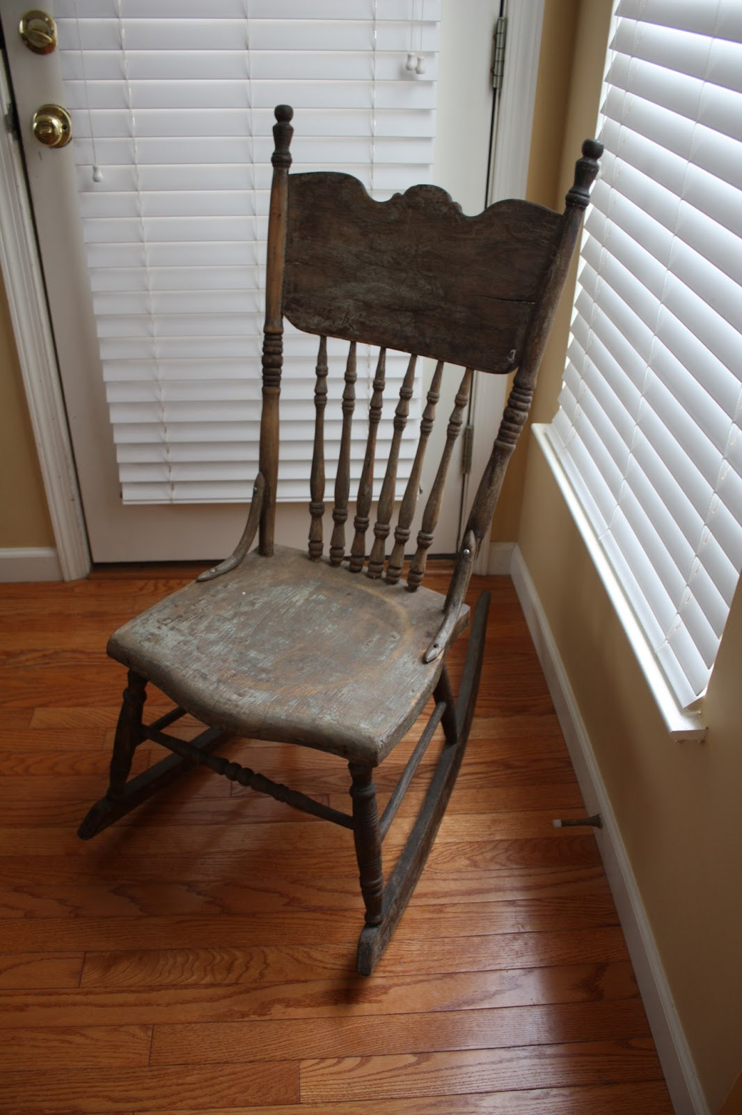 Rocking Chair Question Antique Pressed Back Rocking Chair