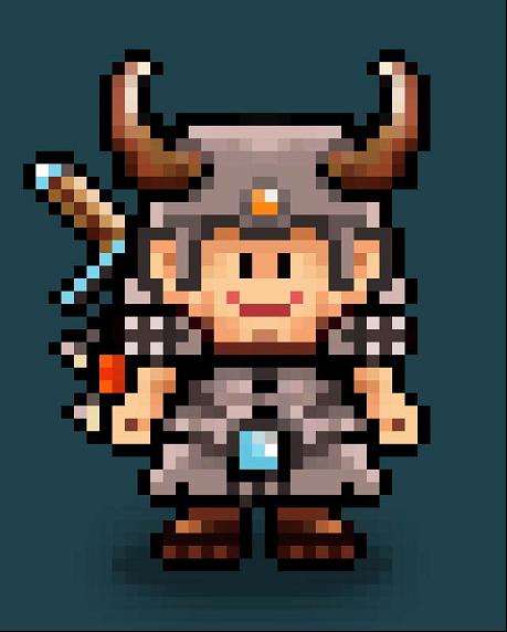 Heavy Vector: Pixel Character