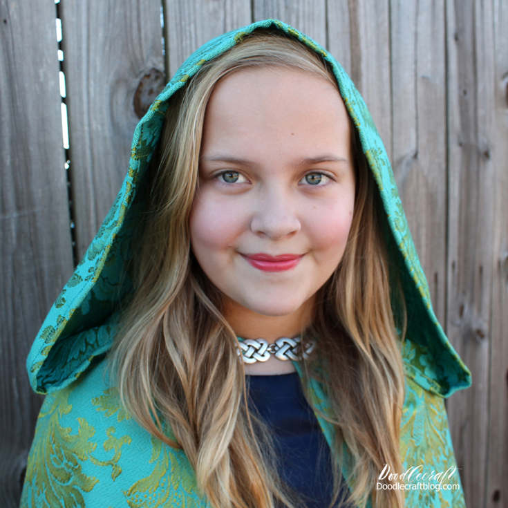 Once upon a time handmade teen costume robe with celtic clasp perfect cosplay for teenager.