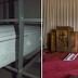 O homem entra em casa funerária abandonada mas se espanta ao encontrar um quarto secreto