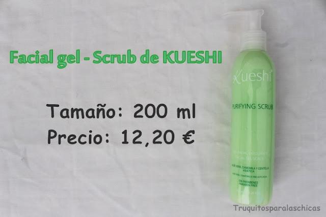 Facial gel - scrub de Kueshi
