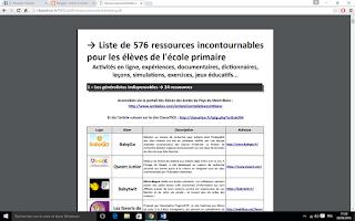 http://classetice.fr/IMG/pdf/ressourcescommentees.pdf