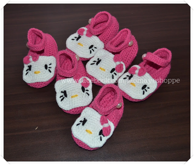 Crochet, Hello Kitty, Booties