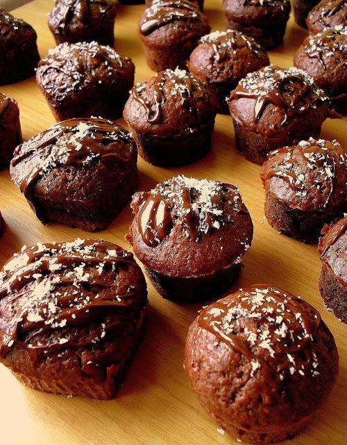 Czekoladowe muffinki z kokosem