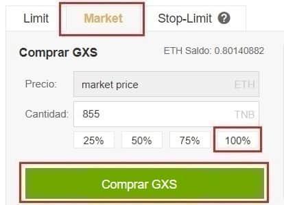 Comprar GXShare - GXS y Guardar en Monedero GXS