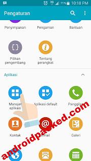 Cara logout LINE messenger di Android