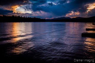 Cramer Imaging's quality landscape photograph of the Island Park Reservoir lake at sunset in Idaho