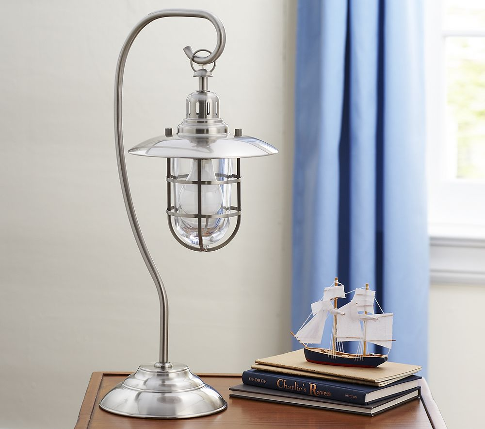 Bedside Table Lamp Baby Blue