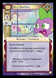 My Little Pony On a Deadline Equestrian Odysseys CCG Card