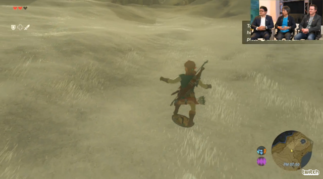 The Legend of Zelda: Breath of the Wild shieldsurfing riding on shield snowboarding