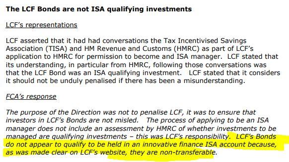 FCA ruling on London Capital & Finance