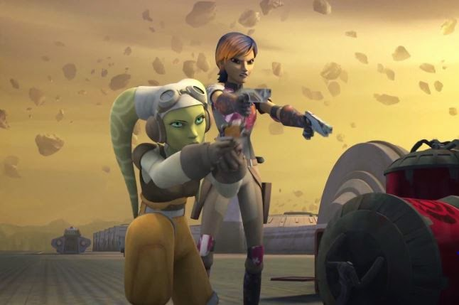 Hera & Sabine Fight Creatures In New 'Rebels' Clip | The ...