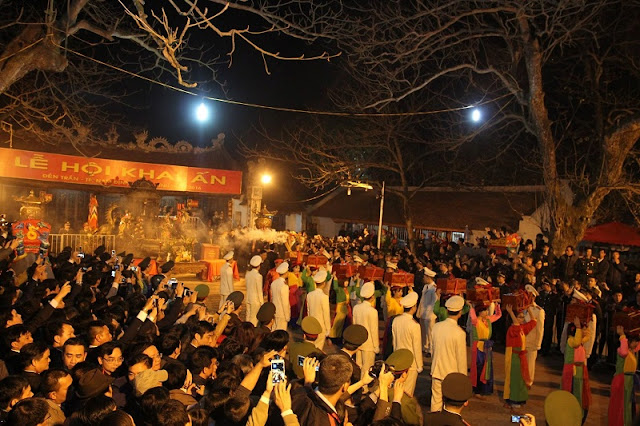 The seal ceremony of Tran Temple in Nam Dinh City 3
