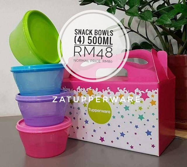 Tupperware Snack Bowls (4) 500ml