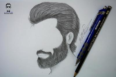 طريقة رسم الشعر واللحية للرجل
