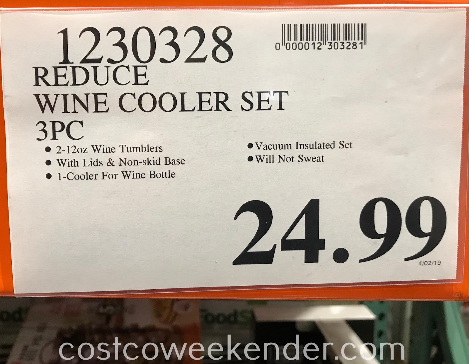 Deal for the Reduce Wine Cooler Set at Costco