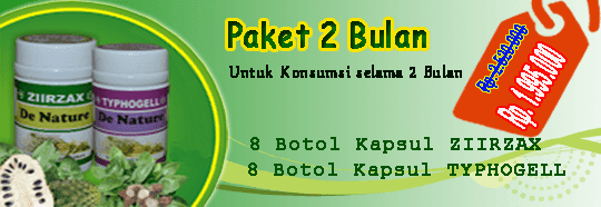 paket obat kanker 2 bulan 8 botol ziirzax ekstrak daun sirsak dan 8 botol typhogell ekstrak keladi tikus paket pengobatan kanker untuk satu minggu dari de nature indonesia