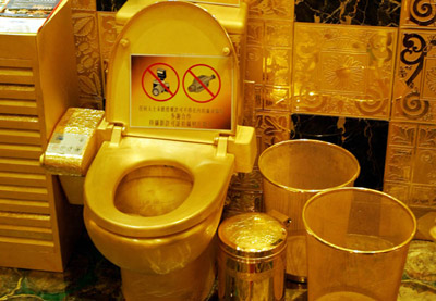 laugh gags 24 carat gold toilet 5 8 million. Black Bedroom Furniture Sets. Home Design Ideas