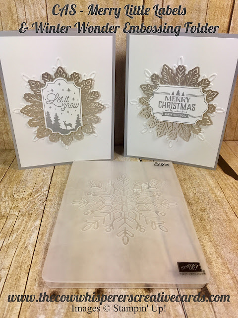 Merry Little Labels, Winter Wonder Embossing Folder, Everyday Label Punch, Foil Snowflakes, Christmas Card, Stampin UP