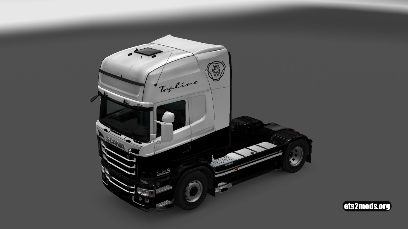 Black & White Skin for Scania RJL