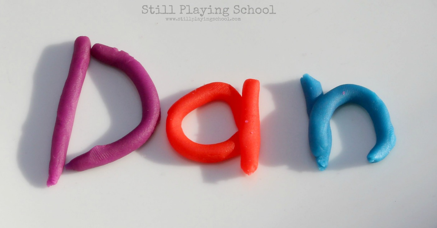 Letter Formation With Play Dough