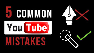 common mistakes for youtubers