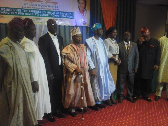 Pictures: Inauguration of Engr Funmi Akingbagbohun as 4th Chairman of Lagos NIMechE