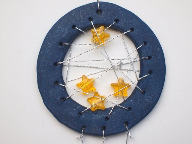 How to Make Clay Dream Catchers with kids