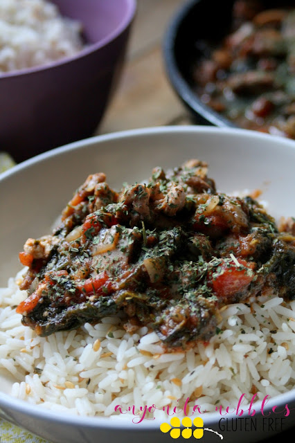 Better for you cinnamon and spinach chicken curry on Anyonita Nibbles