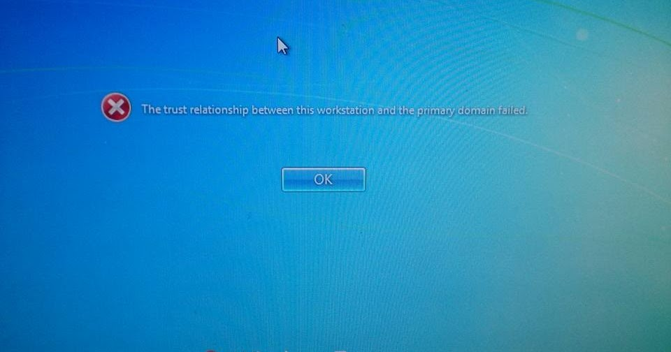 the trust relationship between this workstation system restore