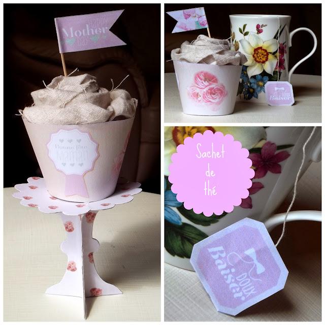 Cupcake in lino