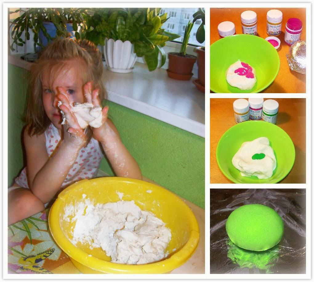 готовим цветное солёное тесто