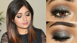 Sangeet Makeup Tutorial : Blue Gold Smoky Eye