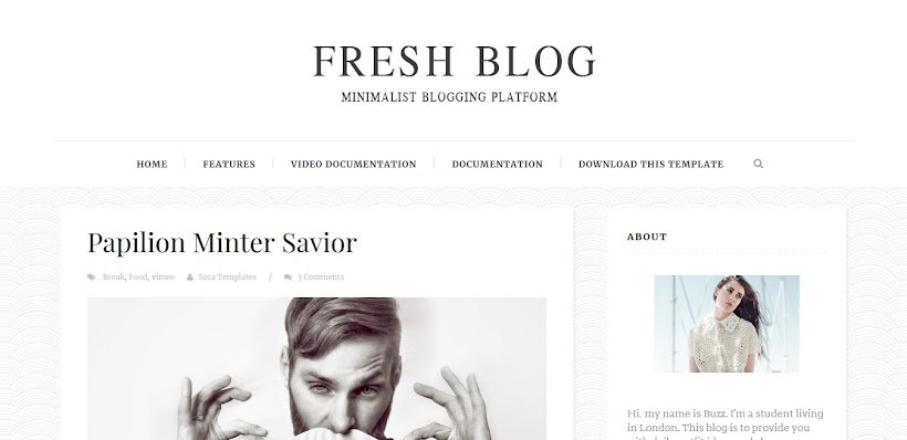 Fresh Blog Free Blogger Template