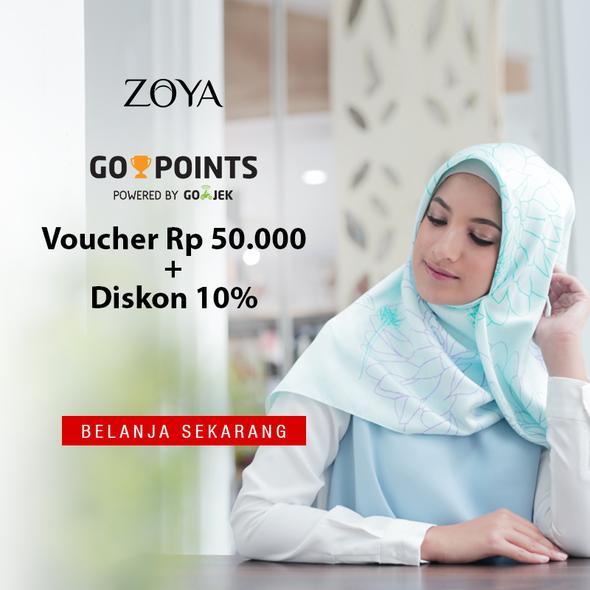 Zoya - Promo Voucher 50 Ribu + Diskon 10% Pakai GO-POINTS dari GOJEK