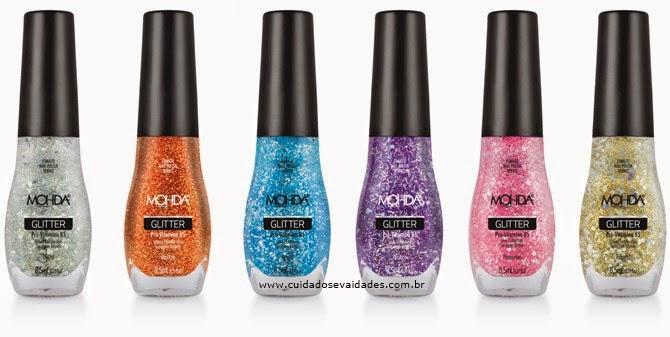 Mohda Cosméticos apresenta novas cores de esmaltes Glitters