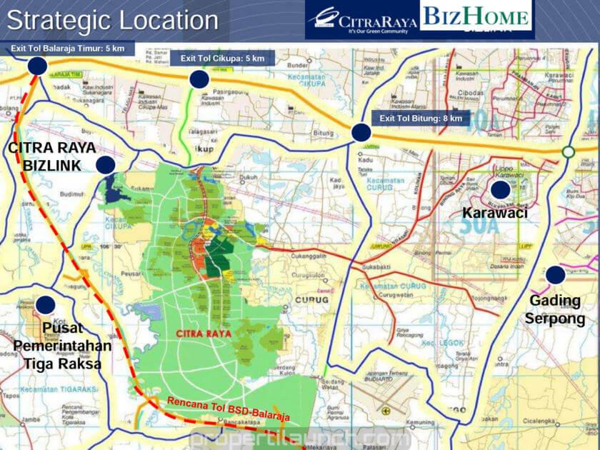 Peta Lokasi Citra Raya BizLink Tiga Raksa Tangerang