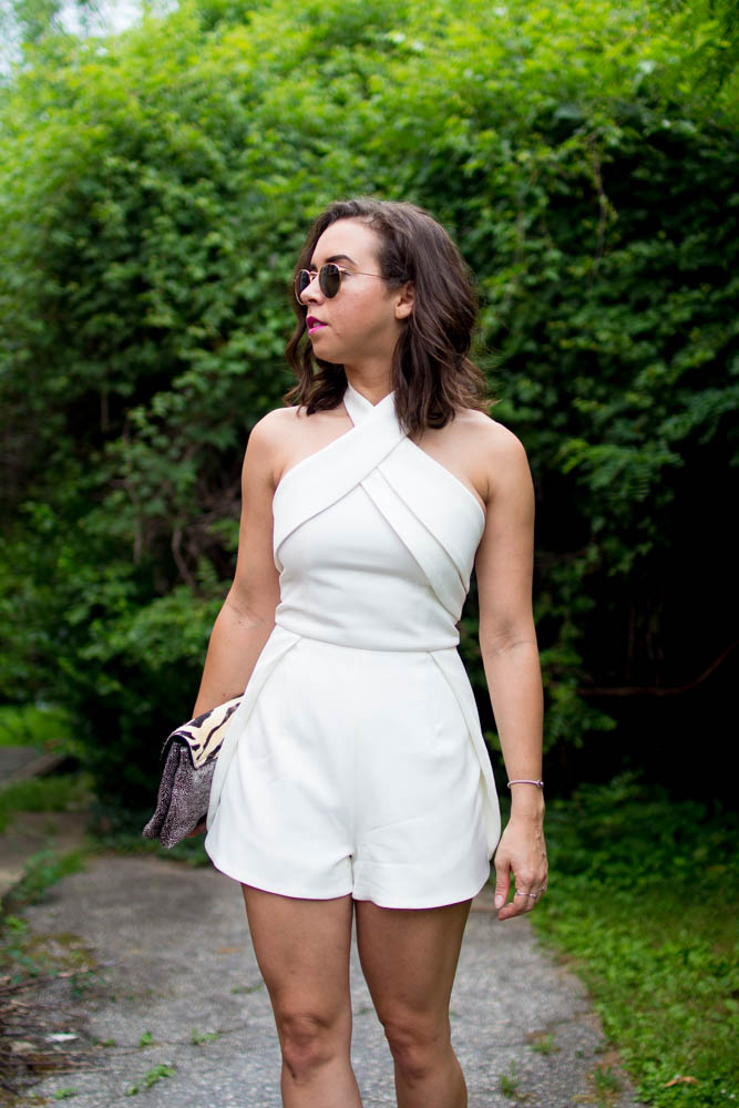 How to style a White Romper. | A.Viza Style | finders keepers romper. dc blogger
