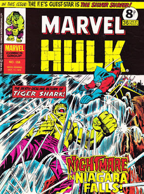 Mighty World of Marvel #158, Hulk vs Tiger Shark
