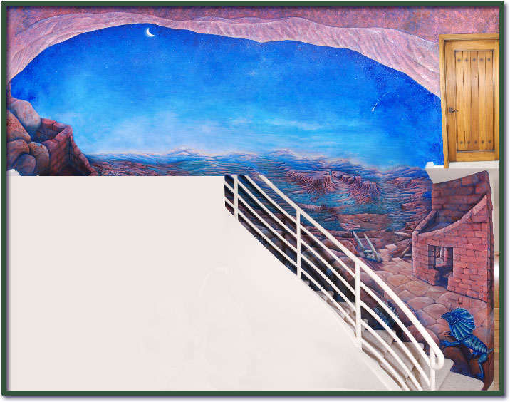 Aquarium room wall mural for Aquarium decoratif mural
