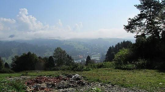Widok w stronę Krościenka nad Dunajcem.
