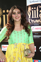 Sridevi Telugu Actressi in green Yellow Anarkali Dress at IIFA Utsavam Awards 039.JPG