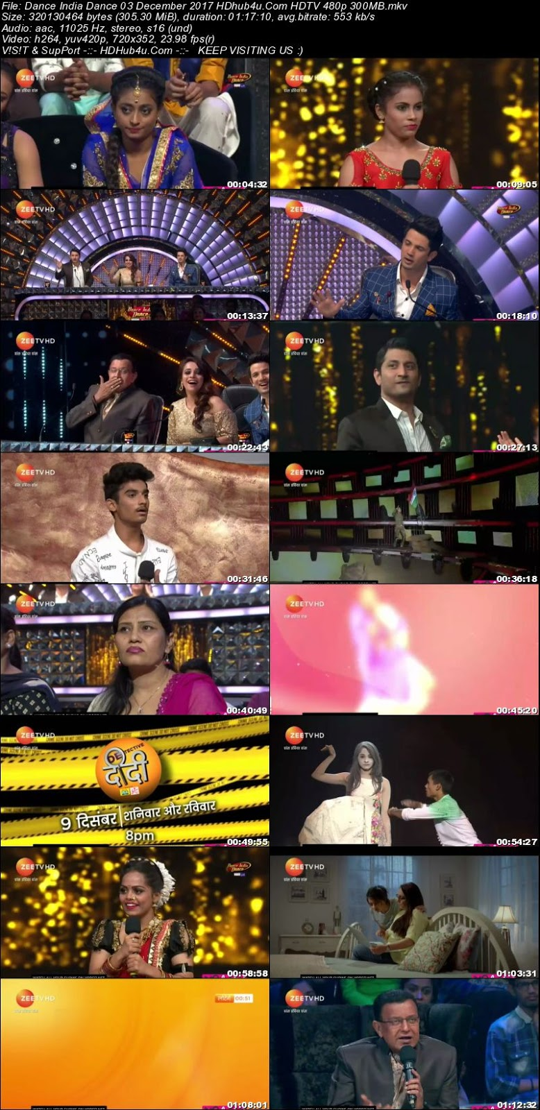 Dance India Dance 03 December 2017 480p HDTV 300MB Download